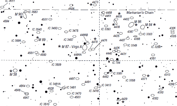 image relating to Printable Star Charts called Deep Sky Hunter Star Atlas - Deep Sky Perspective