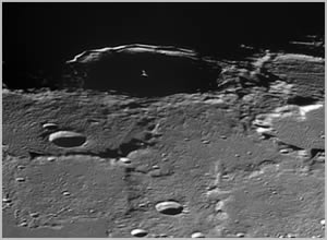 pythagoras crater region panorama on the moon