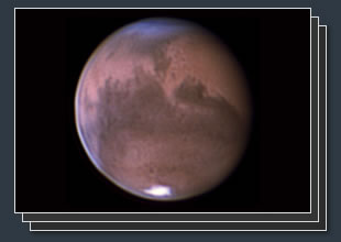 astrophotography of mars