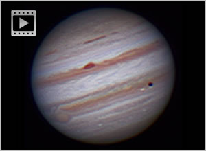 jupiter and io transit timelapse animation dslr 22.10.2011