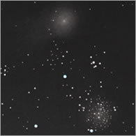 M 71 and garradd comet