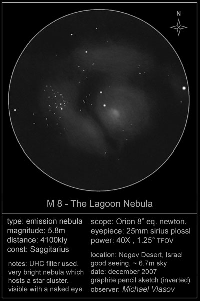 Messier 8 (Lagoon Nebula) - Deep Sky Watch